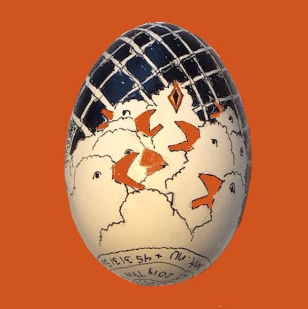 Kyllinger Malet På Gåseæg Som Illustration Af H.C. Andersens Eventyr 'Den Grimme ælling'