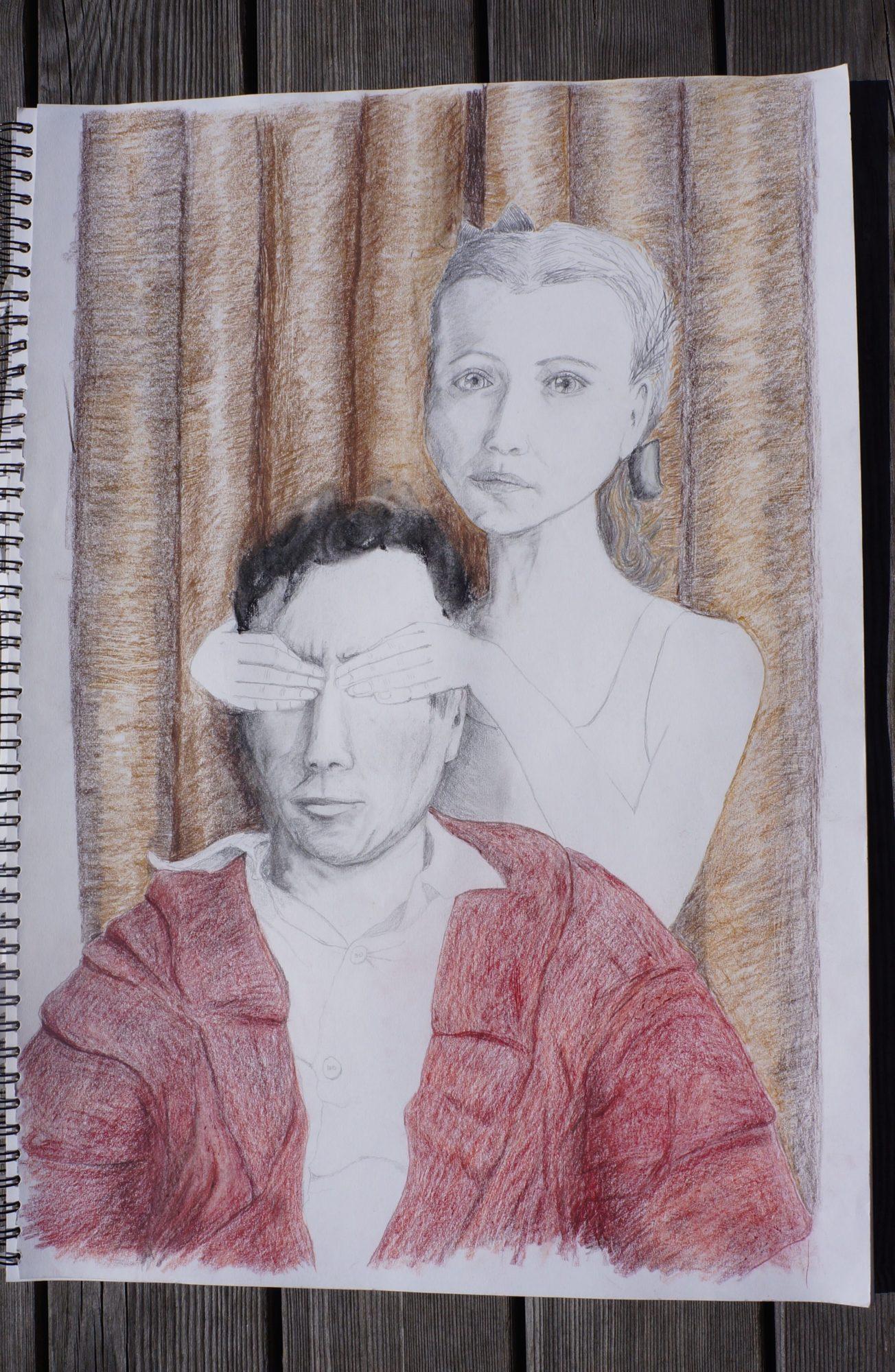 Tegning Inspireret Af Nabokovs Roman Lolita