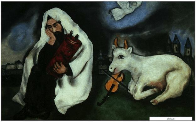 Solitude Maleri Af Marc Chagall