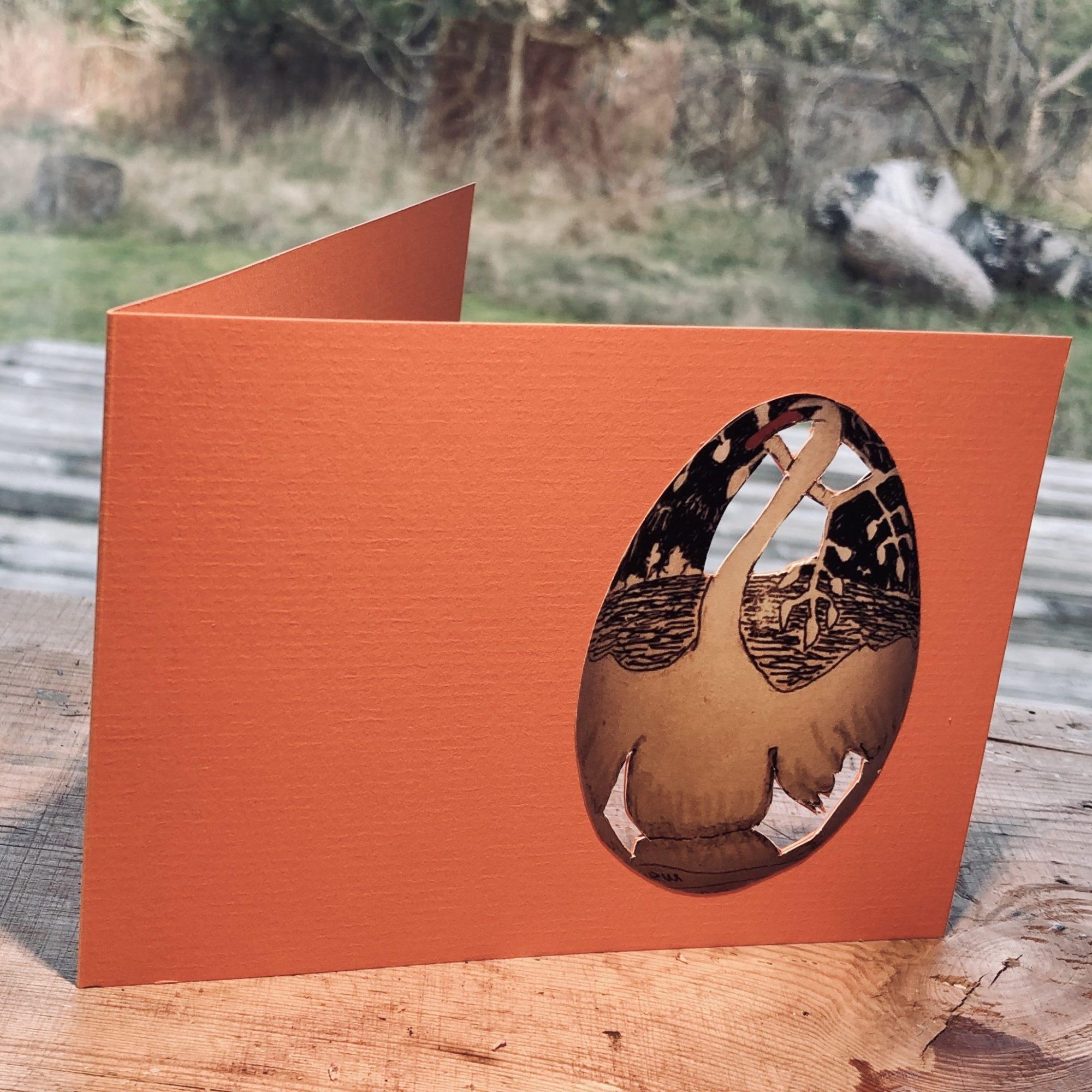 Svane På Orange Dobbeltkort