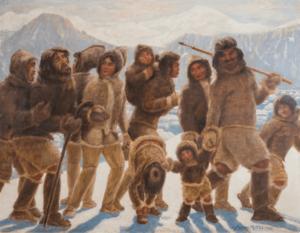 Maleri af Harald Moltke, maler og tegner især i arktiske egne