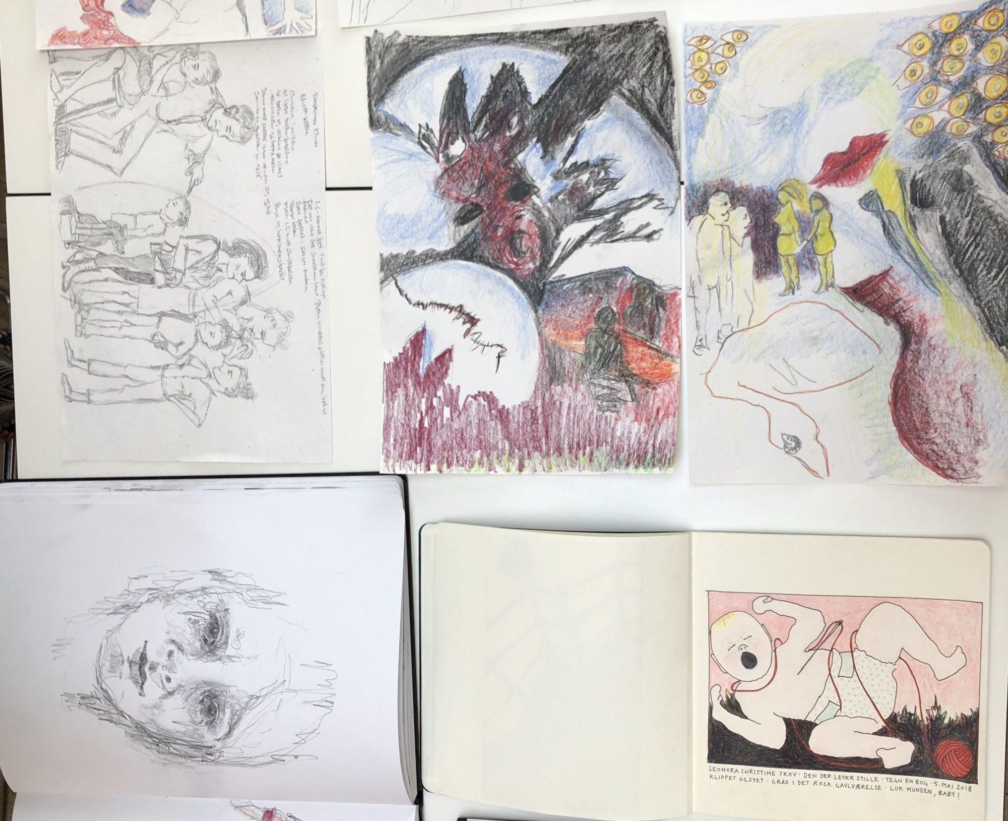 Skitser fra Tegn en Bog workshop