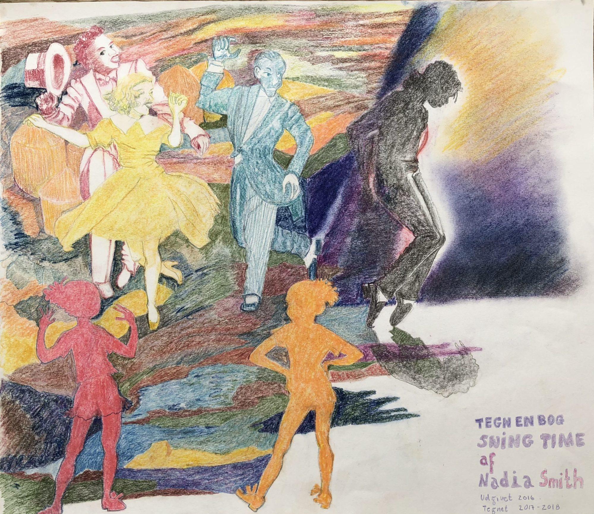 Tegning Af Romanen Swing Time, Skrevet Af Den Engelske Forfatter Zadie Smith