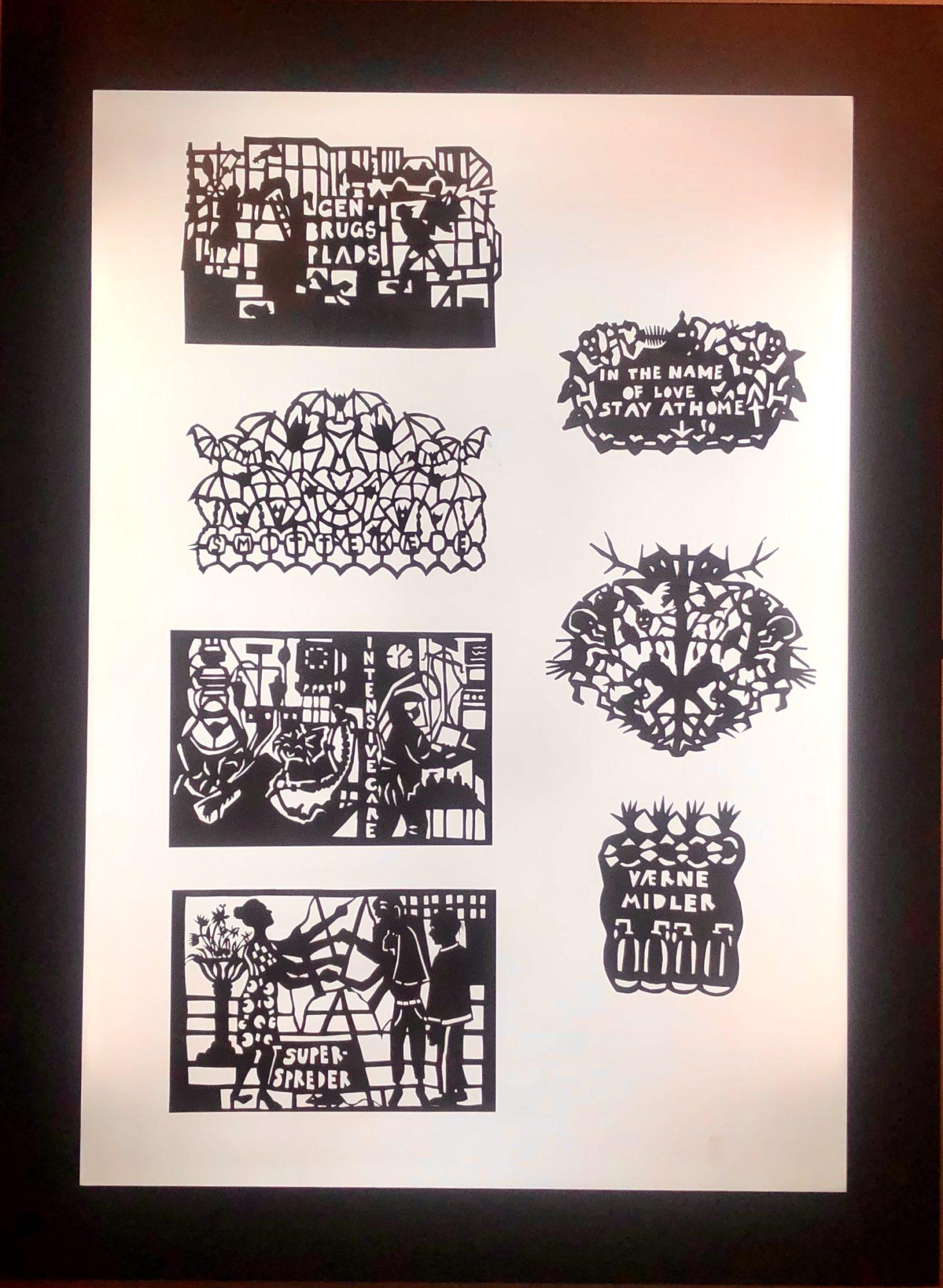 Corona Breve, Klip I Sort, Udstillet På Papirmuseet I Silkeborg