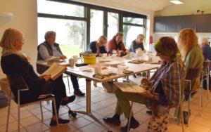 Foto fra Tegn en Bog workshop i Hundested