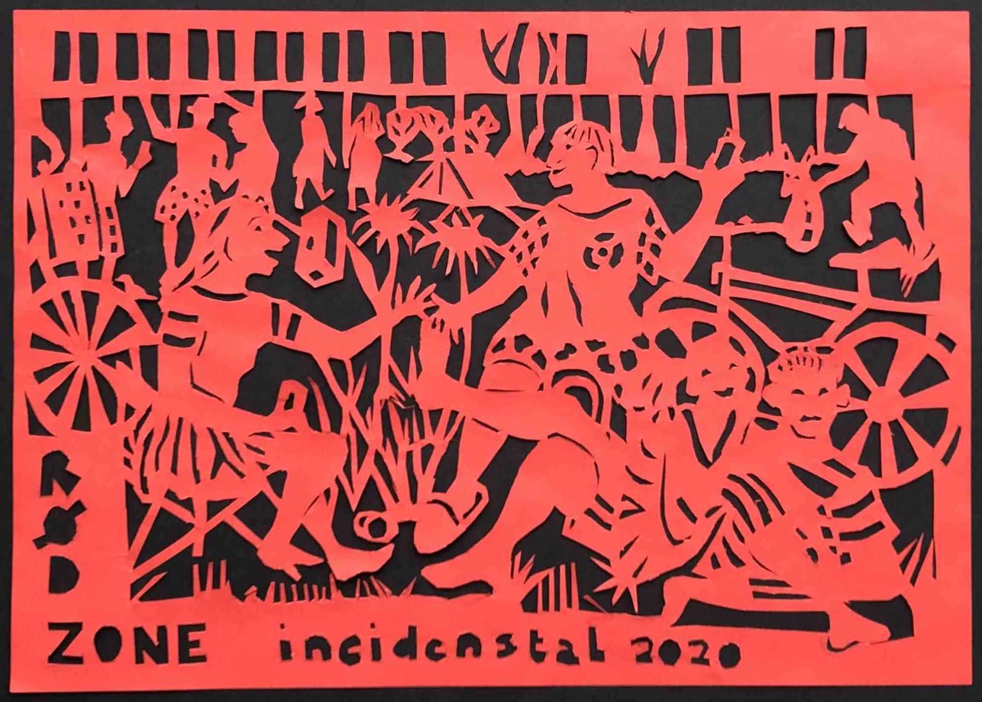 Papirklip I Rødt Papir, Del Af Serien Coronabreve