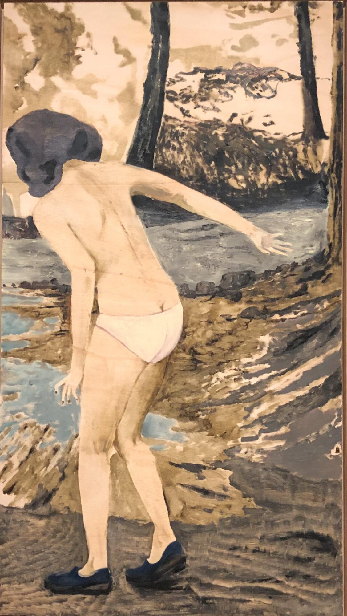 Kvinde I Skov - Maleri Af Mamma Andersson