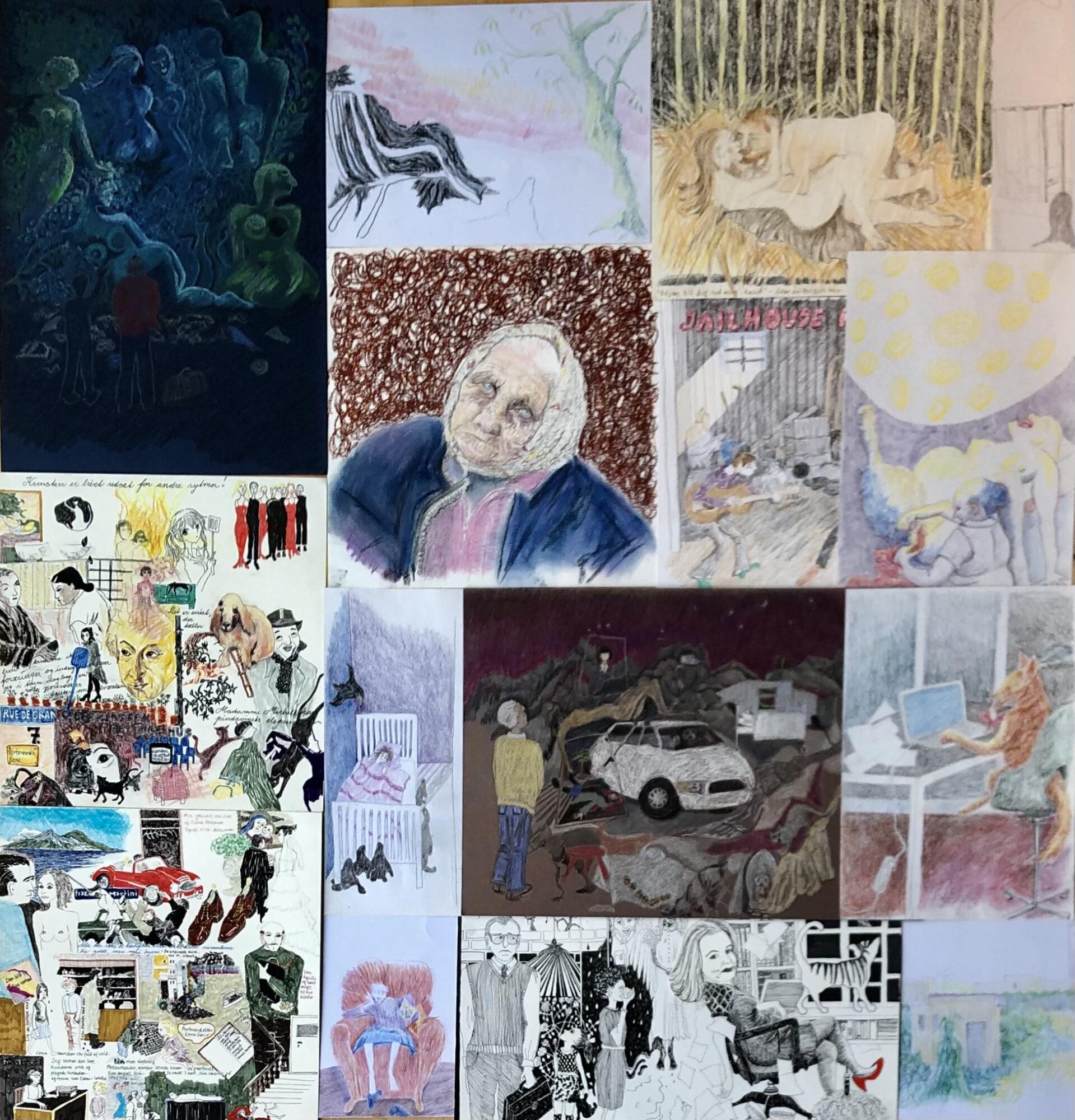 11 Eksempler På Tegninger, Inspireret Af Romaner Og 2 Inspireret Af Noveller
